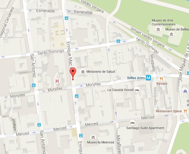 Ubicaci n biblioteca ministerio de salud for Ministerio del interior ubicacion mapa